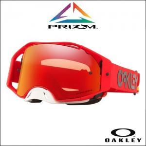 OAKLEY AIRBRAKE MX Heritage Stripe Red - Lente Prizm MX Torch
