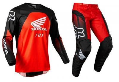 FOX 180 HONDA 2022 COMPLETO CROSS BLACK RED