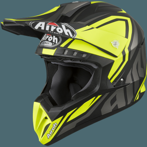 AIROH CASCO CROSS SWITCH IMPACT YELLLOW MATT