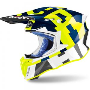 AIROH TWIST 2.0 BLUE YELLOW FLUO GLOSS