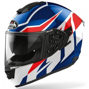 AIROH CASCO INTEGRALE ST.501 FROST BLUE/RED GLOSS