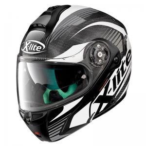 X-LITE X-1004 ULTRA CARBON NORDHELLE BLACK-WHITE