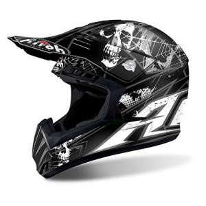 AIROH CASCO CROSS SWITCH SCARY BLACK MATT
