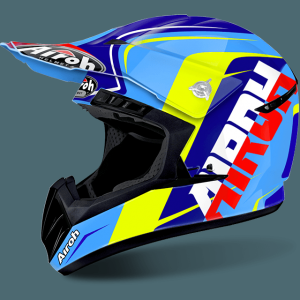 CASCO CROSS AIROH SWITCH SIGN BLUE GLOSS