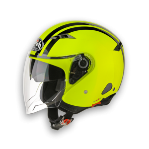 AIROH CASCO JET CITY FLASH YELLOW GLOSS