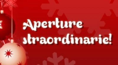 APERTURE STRAORDINARIE DICEMBRE