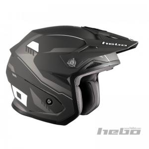 HEBO CASCO TRIAL PURSUIT ZONE 5 MATT BLACK