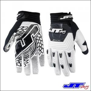 GUANTI JT RACING THROTTLE BLACK WHITE