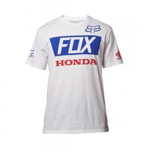 FOX CASUAL HRC HONDA  T-SHIRT WHITE