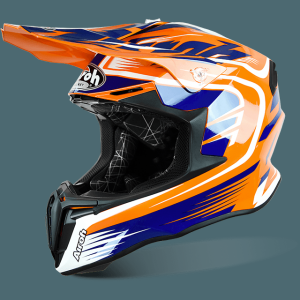 AIROH CASCO CROSS TWIST MIX ORANGE GLOSS