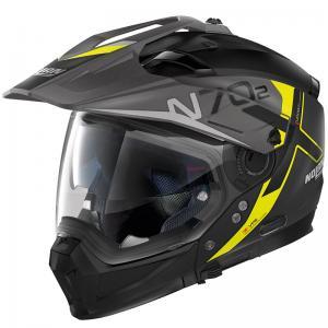 NOLAN N70.2 X BUNGEE N-COM FLAT BLACK YELLOW