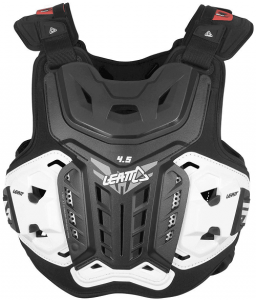 LEATT CHEST PROTECTOR 4.5 BLACK WHITE