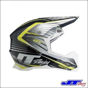 CASCO CROSS JT RACING ALS 2.0 Helmet White Black Chartreuse