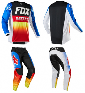 FOX 180 FYCE YOUTH BLUE/RED