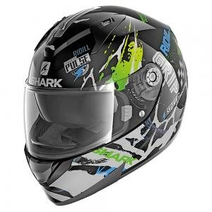 CASCO SHARK RIDILL DRIFT-R KGB BLACK-GREEN