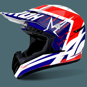 CASCO CROSS AIROH SWITCH STARTRUCK BLUE RED
